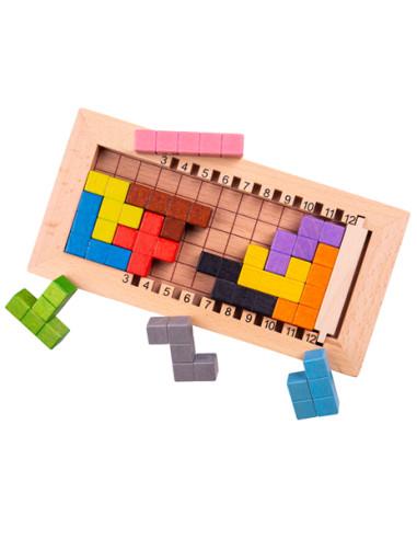 Dřevěný tetris