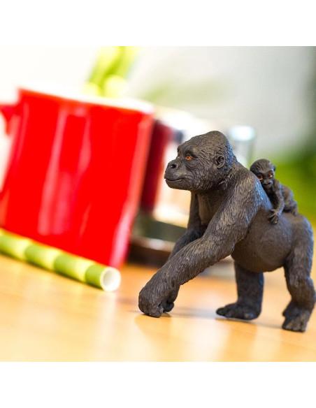 Lowland Gorilla With Baby
