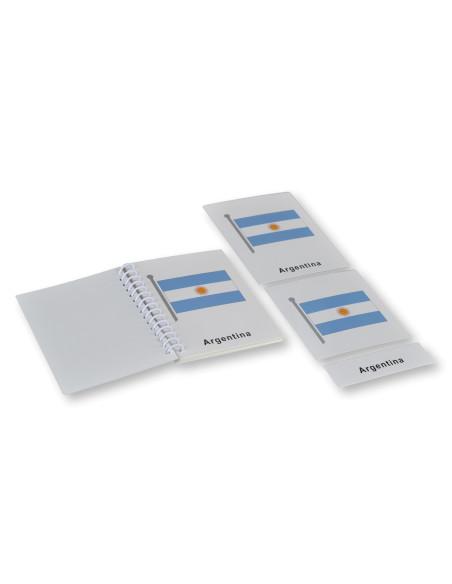 Vlajky Jižní Ameriky - třísložkové karty