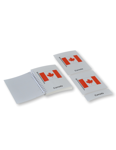 North America Flags Nomenclature Cards