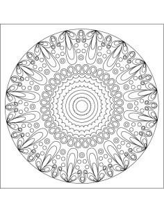 Samolepicí šablona na pískování - Mandala 21. 20x20