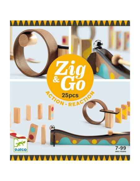 Dřevěná dráha Zig Go 25 dílků