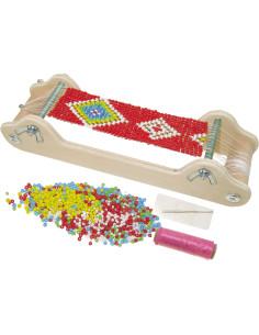 Dřevěný perličkový tkalcovský stav
