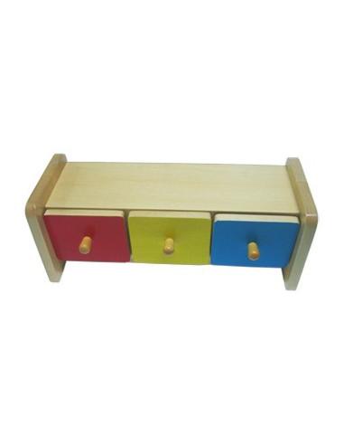 Barevná krabička se zásuvkami