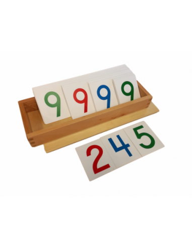 Large Paper Number Cards With Box 1-9000