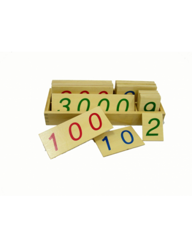 Large Wooden Number Cards 1-3000 With Box