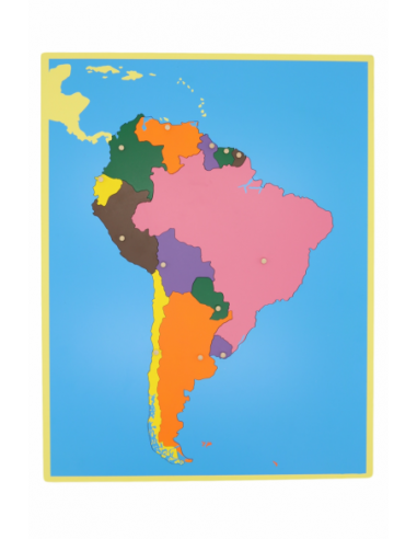 South America Puzzle Map - Without Frame
