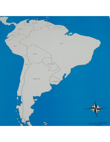 South America Control Map (New) - Labelled