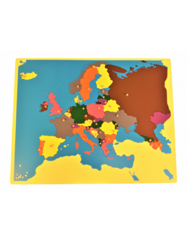 Europe Puzzle Map - Without Frame