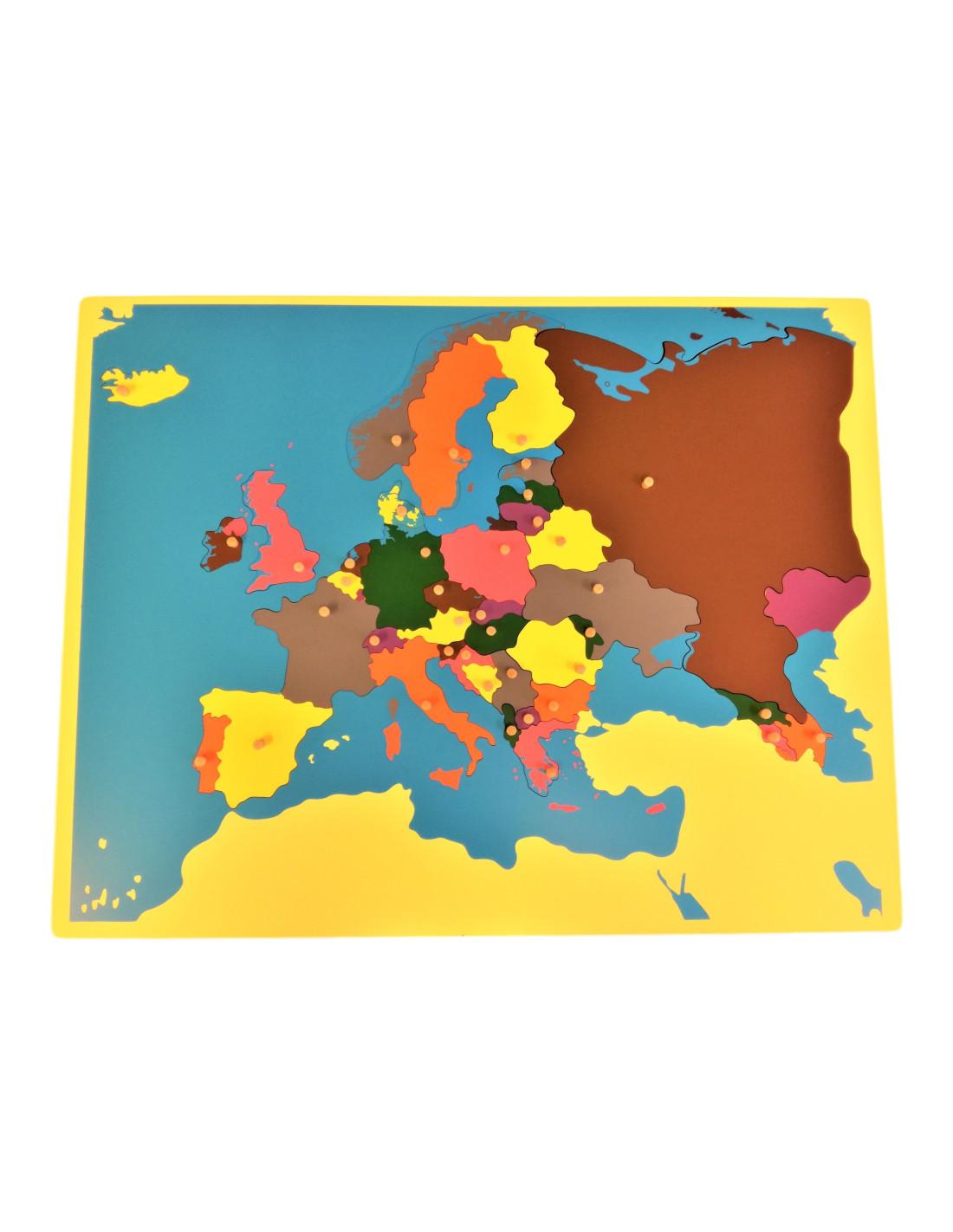 Montessori Puzzle Mapa Evropa Bez Ramecku