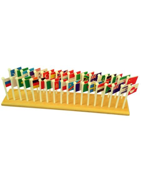 Svět - mapa s vlajkami (na stojánku)