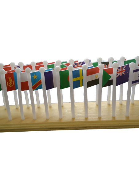 Flag Stand World Map With Flags
