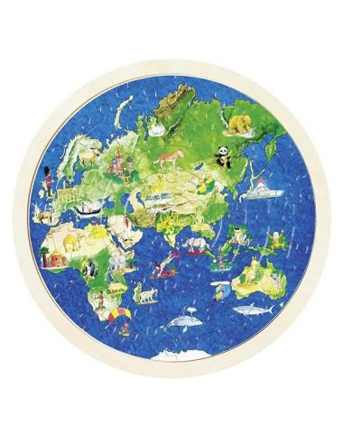 Oboustranné puzzle – Zeměkoule